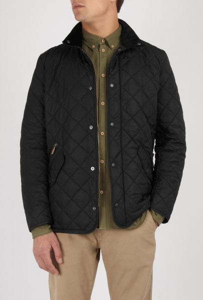 Mens Black Barbour Chelsea Quilted Jacket
