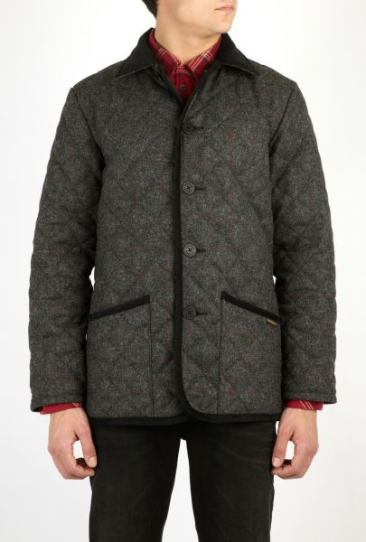 Mens Lavenham Horse Rugs Grey Wool Quilted Jacket